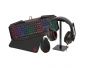 Raiden - 5 in 1 gaming accessory pack for PC - AZERTY Keyboard - Mouse - Mats - Gamer Headset and Headphone Stand