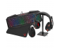 Raiden - 5 in 1 gaming accessory pack for PC - QWERTY Keyboard - Mouse - Mats - Gamer Headset and Headphone Stand