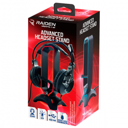 Storage station with LED and USB port for gaming headset