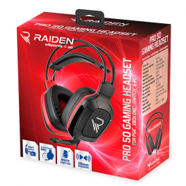 Subsonic - Casque Gamer avec micro - Pro Gaming 50 pour PS4 - Xbox One - PC - Nintendo Switch - Edition Esport Rouge