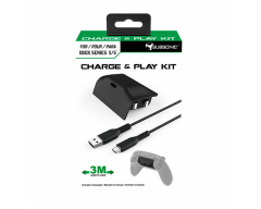 Subsonic - Charging kit - Battery and 3 meter USB C cable for Xbox X series controller