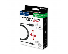 Charge & play cable XXL for PS4 and Xbox One controller