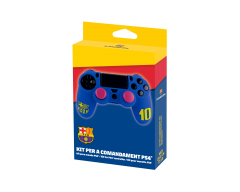 FCB - FC Barcelona - Customisation accessory kit for PS4 controller with silicone and thumb grips caps - N°10 Blue
