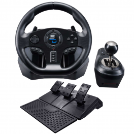 Superdrive -GS850-X Drive Pro Sport wheel with manual gearshifter, pedals, paddle shifters and vibrations