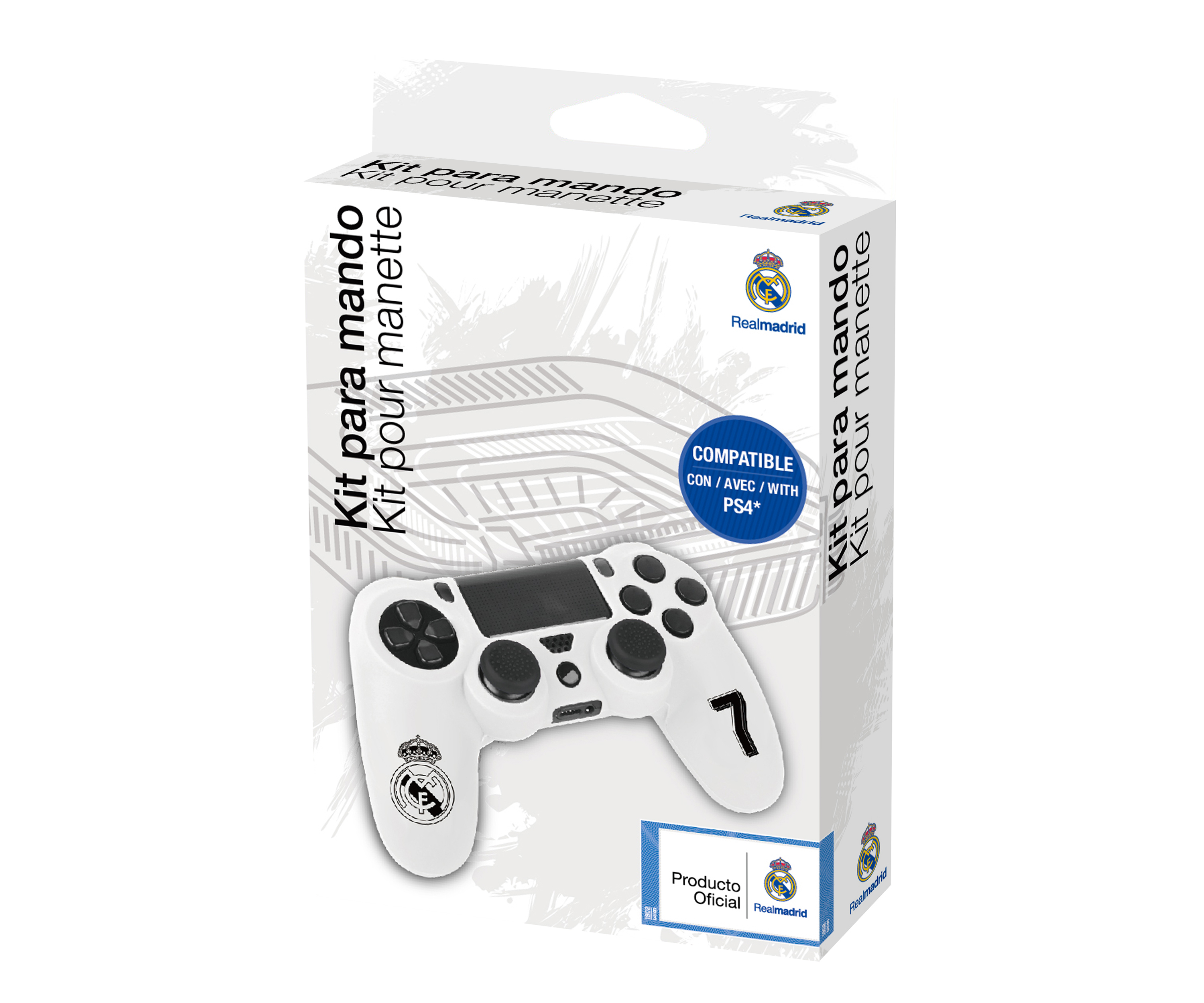 Custom kit for PS4 controller Real Madrid